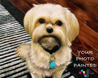 Photo To Pet Painting, Personalized Pet Portrait, Pet Art From Photo, Custom Pet Wall Art, Pet Portrait Canvas, OOAK Pet Portrait