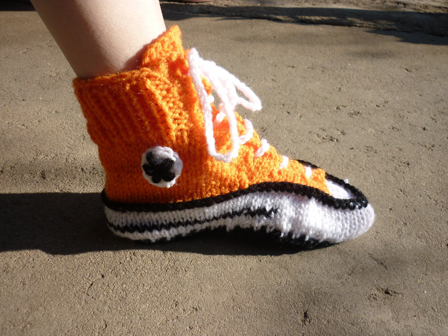 Knit Pattern Converse Slippers Knitted Pattern Slippers