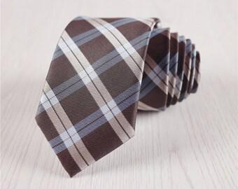 gray necktie.mens formal necktie.plaid ties.boys ties.wedding necktie with gift box.ties for gift.designer necktie.slim neck ties+nt219