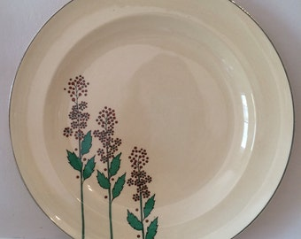 Leigh Ware dinner plates    Set of six  Wildflower pattern