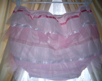 Mommy's Nylon Nighties Baby Girl Pink For AB/DL Baby Doll Nitey Plastic Panty
