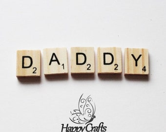 Wooden Letter Magnet Word Daddy