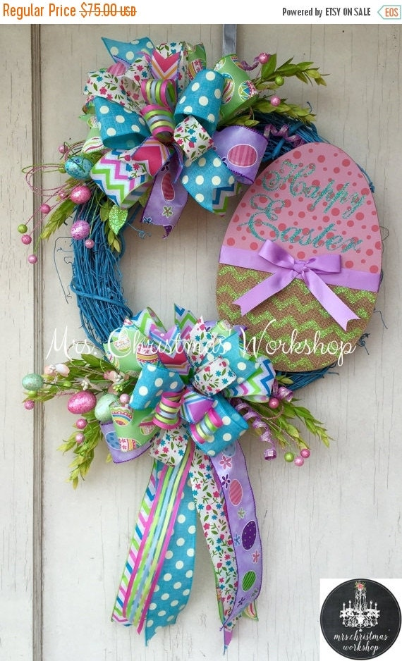 On Sale Easter Wreath Grapevine Wreath By Mrschristmasworkshop