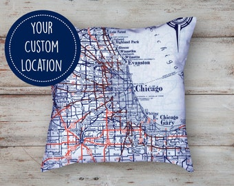 Custom Map Pillow | Personalized Pillow | Personalized Map Decor | Custom Pillow | Wedding Gift |Home Pillow | Long Distance Gift