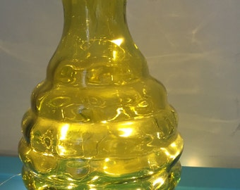 Lime Green Retro Antique Glass Vase