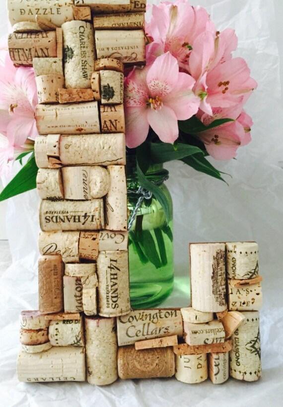 Wine cork letter l home decor wedding vineyard winery Letter n home decor