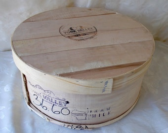 Vintage Wooden Cheese Box, York Valley Cheese
