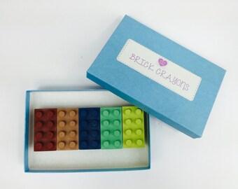 Brick Crayons, Kids Birthday Gift, Building Blocks, Brick Crayons Gift Boxed, Colouring Activities, Kids Craft, Kids Gift Boy,Kids Gift Girl