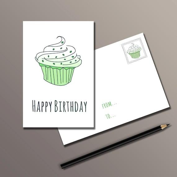 SALE 50% Birthday Card: Happy Birthday Card