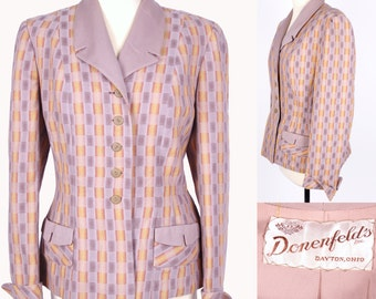 Vintage Jacket 1940's // Donenfeld's Inc Dayton Ohio 40s Blazer // M