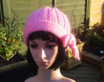 Silk, Cashmere, Mohair Knitted Hat