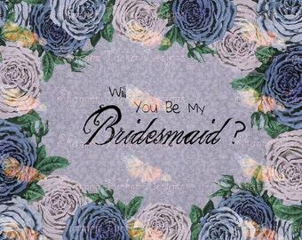 Purple Flowers Bridsmaid