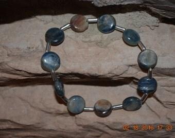 Natural Kyanite Stretch Bracelet