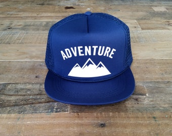 ADVENTURE Trucker Hats | Baby Snapback Hats Baby Trucker Hats | Custom Trucker Hat | Kids Hat | Adventure Hat