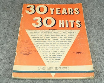 30 Years 30 Hits Song Book c. 1950