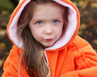 Baby & Kid Fox Fleece Poncho - Orange