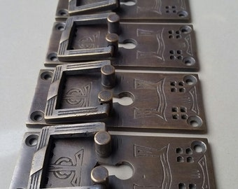"4 Arts and Crafts/Mission Handles Vertical 3"" Frank Lloyd Wright Style #H28"