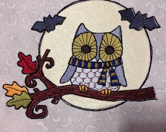 Embroidered Tote Bag - Owls