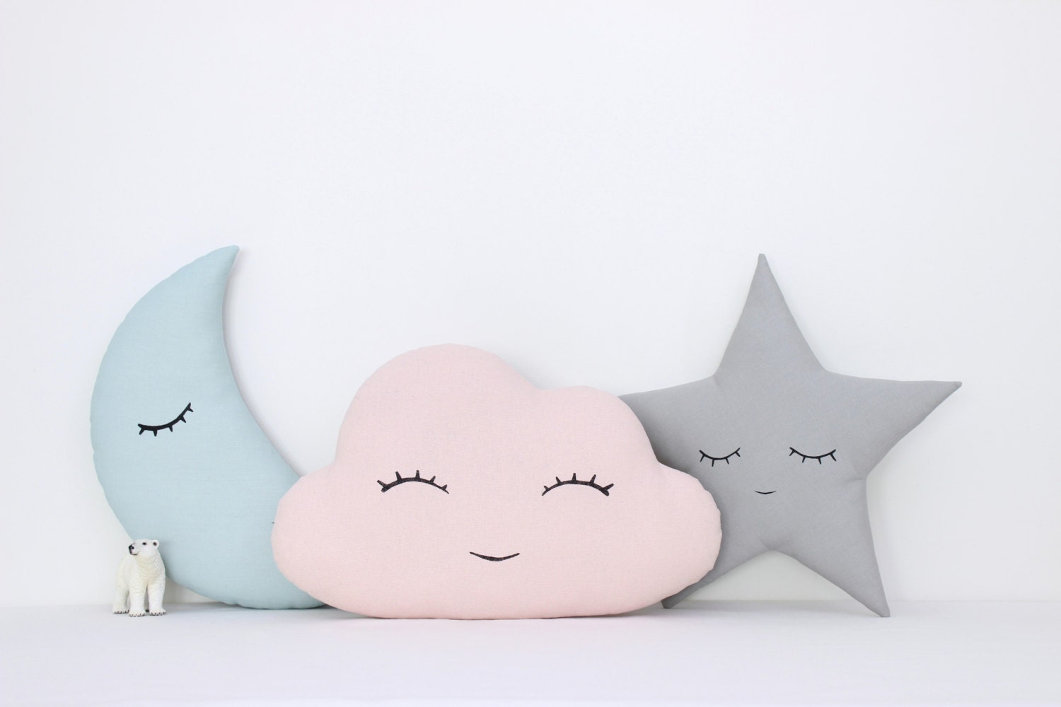 Purple Themed Bedroom Set Of Cloud Moon And Star Pillows Kids Pillows Kids Room