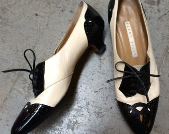 Patent leather oxford heels - 36