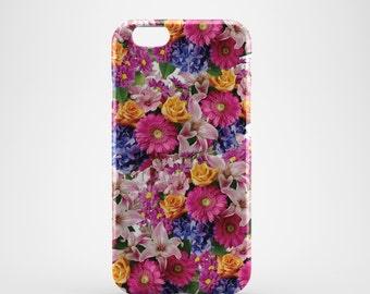 Pink Floral Phone case,  iPhone X Case, iPhone 8 case,  iPhone 6s,  iPhone 7 Plus, IPhone SE, Galaxy S8 case, Phone cover, SS143a