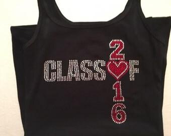 Class of 2016 Rhinestone Shirt