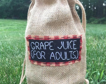 wine bags || Punny Wine Bag Wine Gifts Wine Glass Wine Glasses Wine Bottle Wine Box Wedding gift | Back Patch Punk Patch Punk Patches
