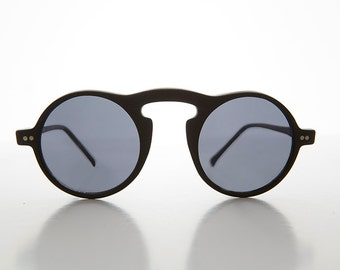 Small Retro Round 1930s Aviator Style Driving Sunglass - LOUIE