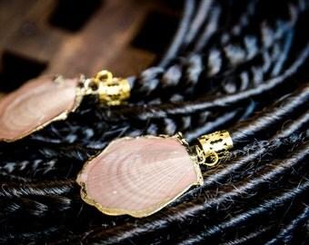 Set of 5 dread beads with seashells