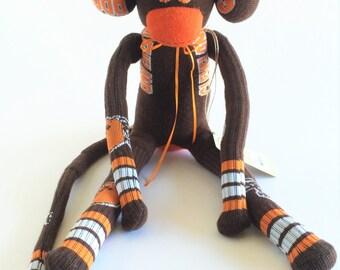 Cleveland Browns - Sock Monkey - NFL - National Football League - Football Sock Monkey - Brown Sock Monkey - Browns Sock Monkey - Cleveland