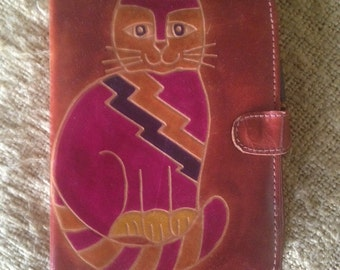 CAT  and  AGENDA  leather planner