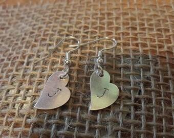 Petite heart earrings