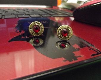 Bullet earrings, stud earrings, bullet jewelry