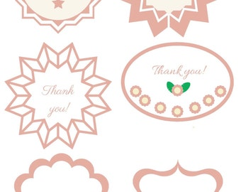 Thank you tags in beige color