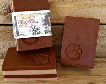 Orange Clove Scented Soap, All Natural Organic Homemade Soap, Fall Season Scented Soap