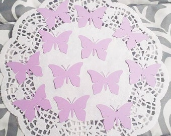 Butterfly Die Cuts Confetti Embellishments: Lavender (Butterfly Wings Cardstock)
