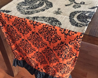 Halloween burlap table runners