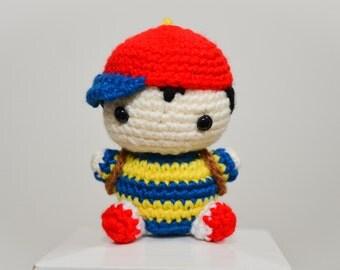 Ness EarthBound Plush Crochet Amigurumi