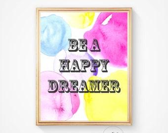 Dream print, Wall art, Instant download, printable art, nursery decor, Sweet dreams, Nursery printable, modern wall art, dreams print