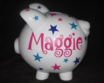Personalized Piggy Banks - STARS
