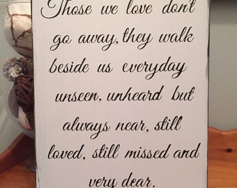 Those we love Wedding Sign Rememberance Sign Wood Sign Home Decor