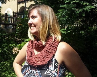 Pink Convertible Scarf