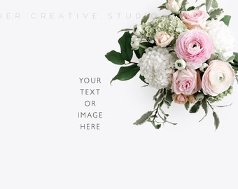 Styled stock Photo | Vintage Florals | Stationery Mockup | Cards, invitations, Vintage Florals