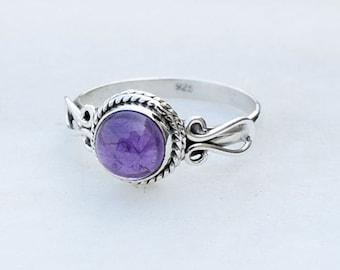 Amethyst Ring , Amethyst Stone Silver ring ,silver 925 sterling silver ring, stone ring,special ring,Amethyst silver ring, RNSLAM8