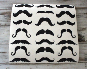 Mustache wall decals