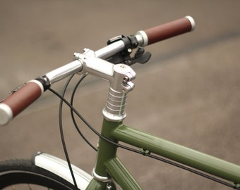 Premium Handmade Leather Bicycle Handlebar Grips - Temple Cycles