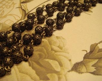 Brass chain filigree antiqued brass 11 mm 1 foot