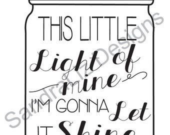 This Little Light of Mine Chalkboard Printable Download