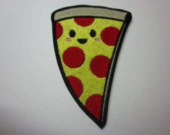 kawaii Peperoni Pizza Slice Kawaii Iron or Sew on patch