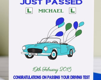 Passed Driving Test Card For Him